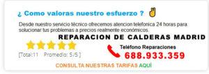 REPARACION DE CALDERAS MADRID PRECIOS